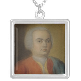 Carl Philipp Emanuel Bach, c.1733 Silver Plated Necklace