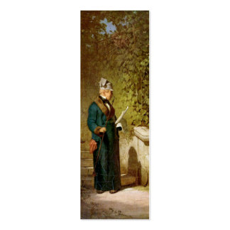 Carl Spitzweg - Newspaper Reader in the Garden Pack Of Skinny Business Cards