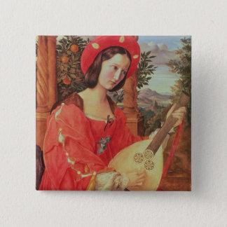Carla Bianca von Quandt, c.1820 (oil on canvas) 15 Cm Square Badge