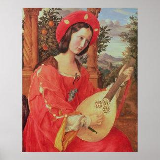 Carla Bianca von Quandt, c.1820 (oil on canvas) Poster