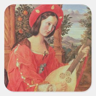 Carla Bianca von Quandt, c.1820 (oil on canvas) Square Sticker
