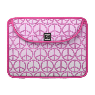 Carleigh's Pink Peace Bling Laptop Case Sleeve For MacBook Pro
