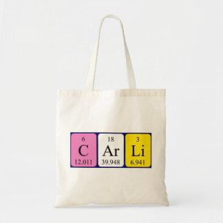 Carli periodic table name tote bag