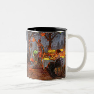 Carlier: Preparing for the Party Two-Tone Mug