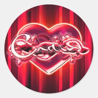 Carlin Round Sticker
