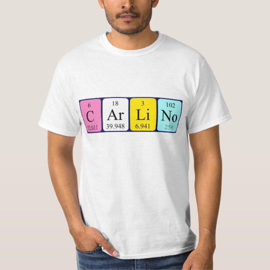 With name steve t shirts shirt designs zazzle uk carlino periodic table name shirt urtaz Image collections