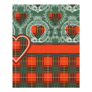 Carlisle clan Plaid Scottish kilt tartan 11.5 Cm X 14 Cm Flyer