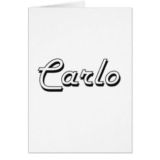Carlo Classic Retro Name Design Greeting Card