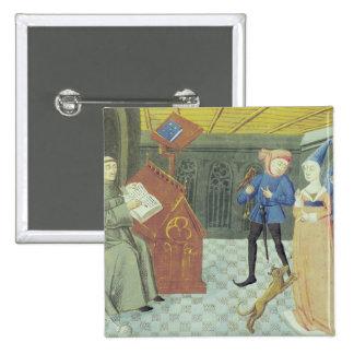 Carlo Marsuppini  illustration 15 Cm Square Badge