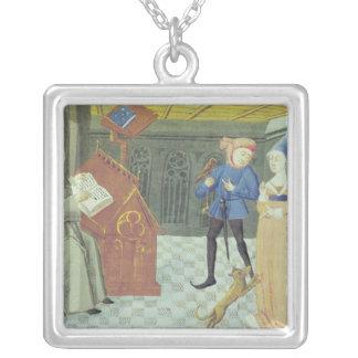 Carlo Marsuppini  illustration Silver Plated Necklace