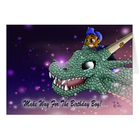 Carlos and the Dragon Birthday Card