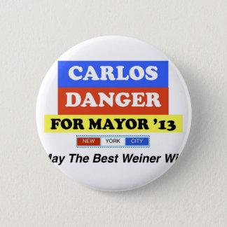 Carlos Danger For Mayor '13 Best Weiner Win 6 Cm Round Badge