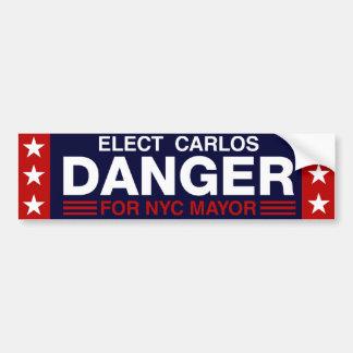 Carlos Danger for NYC Mayor Bumper Sticker