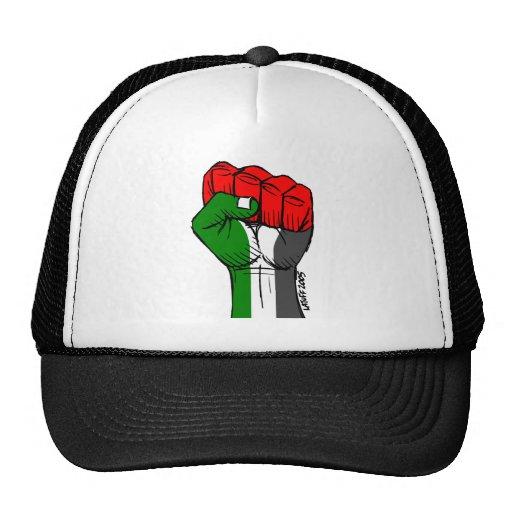Carlos Latuff's Palestinian Fist Cap Hats