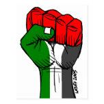 Carlos Latuff's Palestinian Fist Postcard