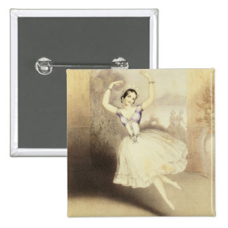 Carlotta Grisi (1819-99) in the Ballet of the Peri Pinback Button