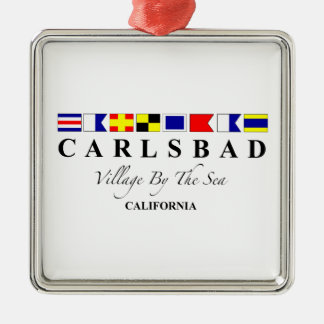 Carlsbad CA - Village By The Sea Christmas Ornament