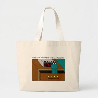 carlthesocklogo2 large tote bag