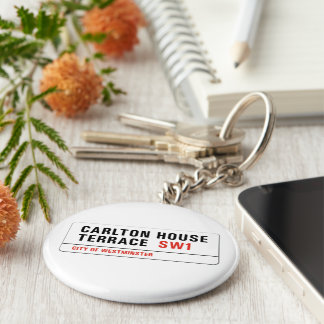 Carlton House Terrace, London Street Sign Basic Round Button Key Ring