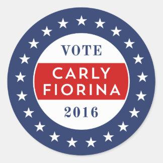 Carly Fiorina 2016 Classic Round Sticker