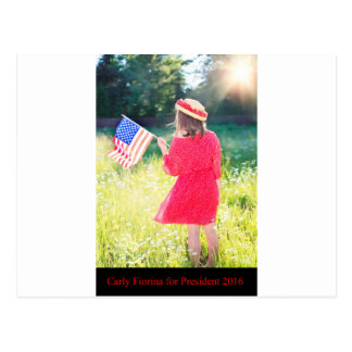 Carly Fiorina for President 2016 Postcard