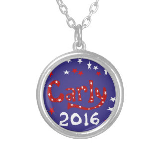 Carly Fiorina for President Art Round Pendant Necklace