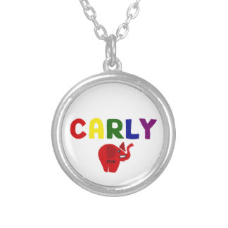 Carly Fiorina for President Original Art Round Pendant Necklace