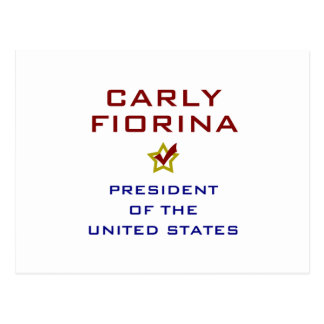 Carly Fiorina for President USA Postcard