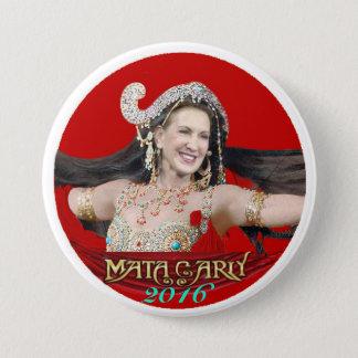 Carly Fiorina: Mata Carly 7.5 Cm Round Badge