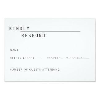 Carly Modern RSVP Card Invitation