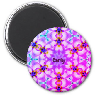 CARLY ~ Personalized Easter Pattern Fractal ~ Magnet