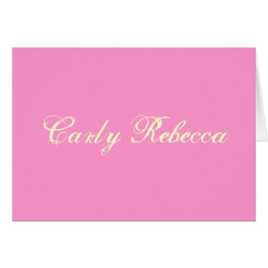 Carly Rebecca Thank You Card