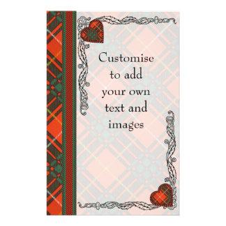 "Carlyle clan Plaid Scottish kilt tartan 5.5"" X 8.5"" Flyer"