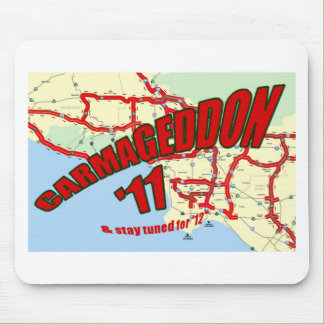 CARMAGEDDON 405 Gridlock in Los Angeles Get it now Mouse Pad