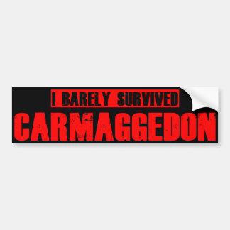 Carmageddon Bumper Sticker
