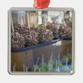Carmel apples, Pioneer Square, Seattle, Silver-Colored Square Decoration