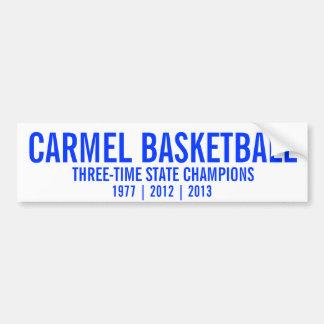 Carmel Basketball State Champions Car Bumper Sticker