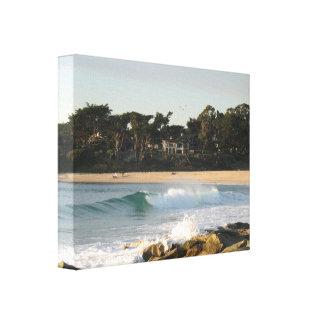 Carmel Beach by John Oven Canvas Print