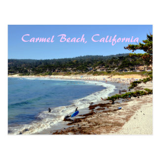 Carmel Beach California Postcard