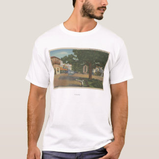 Carmel, CA - Business District View of Downtown T-Shirt