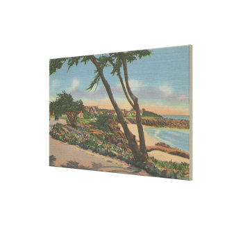 Carmel, CA - Homes along The Shore View Canvas Print