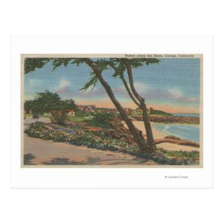 Carmel, CA - Homes along The Shore View Postcard