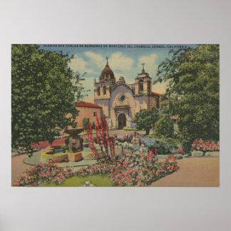 Carmel, CA - Mission San Carlos De Borromeo Poster
