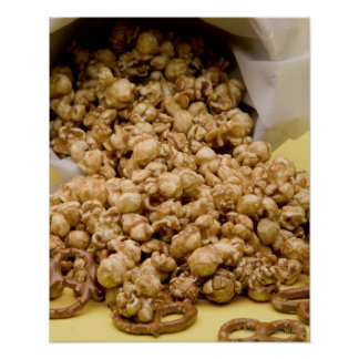 Carmel Corn and pretzels Poster