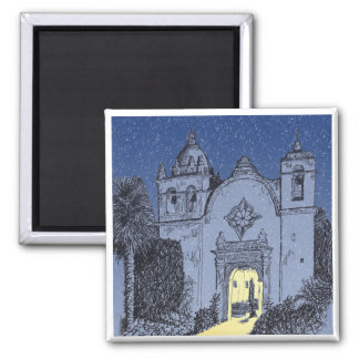 Carmel Mission at Christmas Magnet