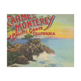Carmel, Monterey, & Pacific Grove, CA - Welcomes Canvas Print