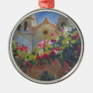Carmel Spanish Mission California Garden Christmas Ornament