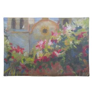 Carmel Spanish Mission California Garden Placemat