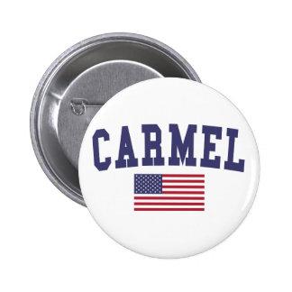 Carmel US Flag 6 Cm Round Badge