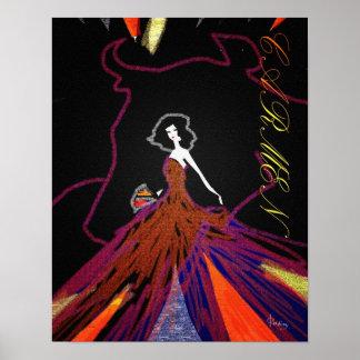 Carmen by Bizet poster art